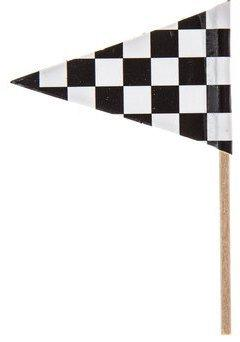 Checkered Flag Race Car Cupcake Toppers Food Picks Party Bla