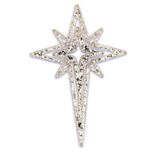 christmas cake toppers silver star cupcake picks