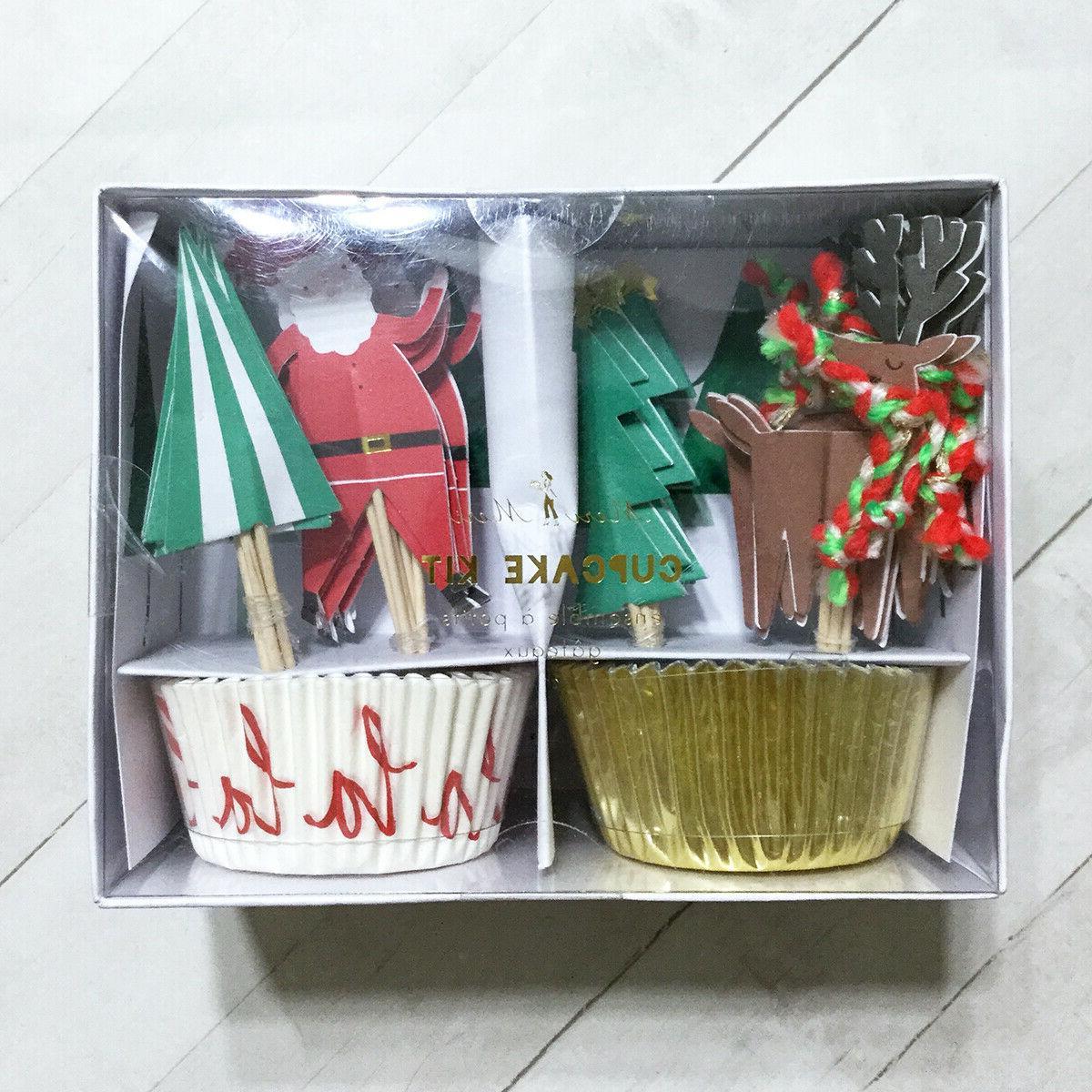 Christmas Cupcake Toppers Party Picks Meri Meri Designer Bak