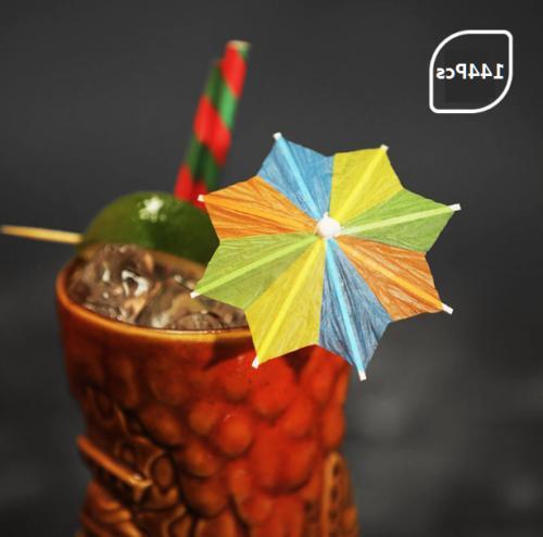 Cocktail Parasol Cupcake Favours Supplies
