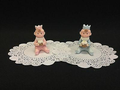 Cold Porcelain Baby King/Queen Cake Topper Favor Decoration