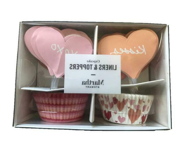 Martha Heart Cupcake Liners Toppers