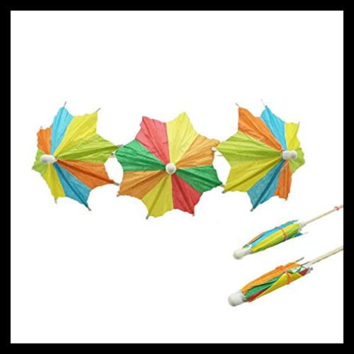 Colorful Umbrellas Parasol Picks Toppers Pack 50