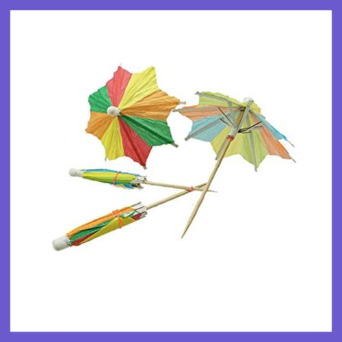 Colorful Paper Umbrellas Parasol Pack 50