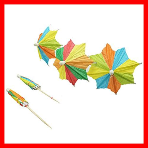 Colorful Paper Umbrellas Parasol Pack Of