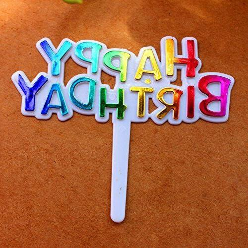 Warm Party Birthday Cupcake Picks Toppers,Pack 50