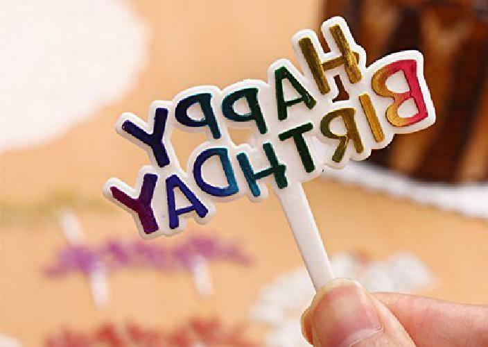 Warm Colourful Birthday Cake Toppers,Pack Of