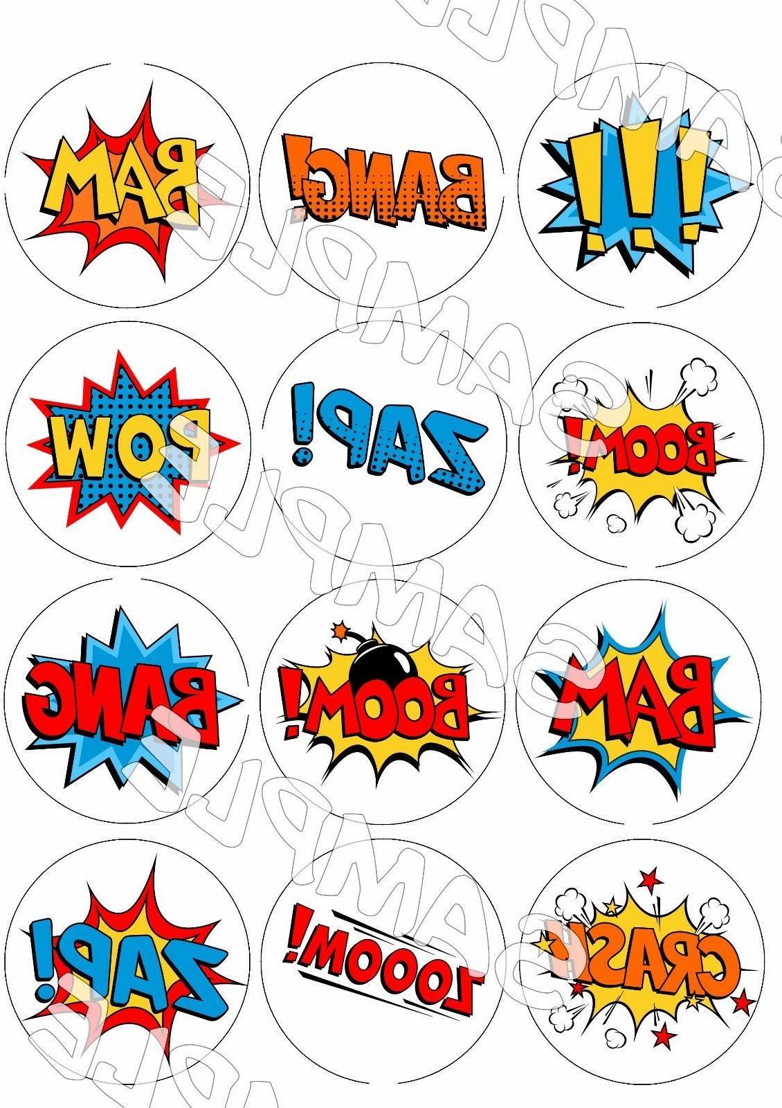 Comic Book cupcake Superhero sugar