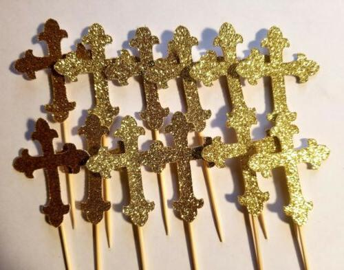 Communion Baptism Cross Toppers, Ct.
