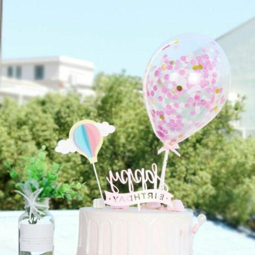 Creative Fairy Air Balloon Picks Cupcake Topper Sweet Dessert Decor