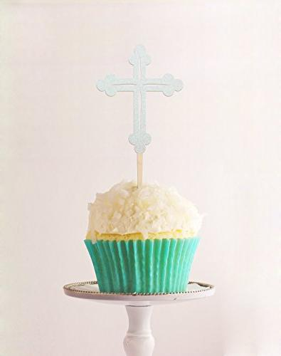 cup cake topper cross baptism