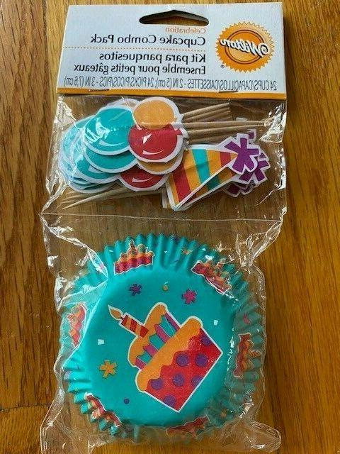 cupcake combo pack of liners and toppers