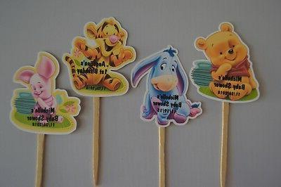 CUPCAKE TOPPERS WINNIE THE POOH, EEYORE, TIGGER, PIGLET BABY