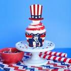 Cupcake Toppers Wrappers Patriotic Party Supplies Cake Decor