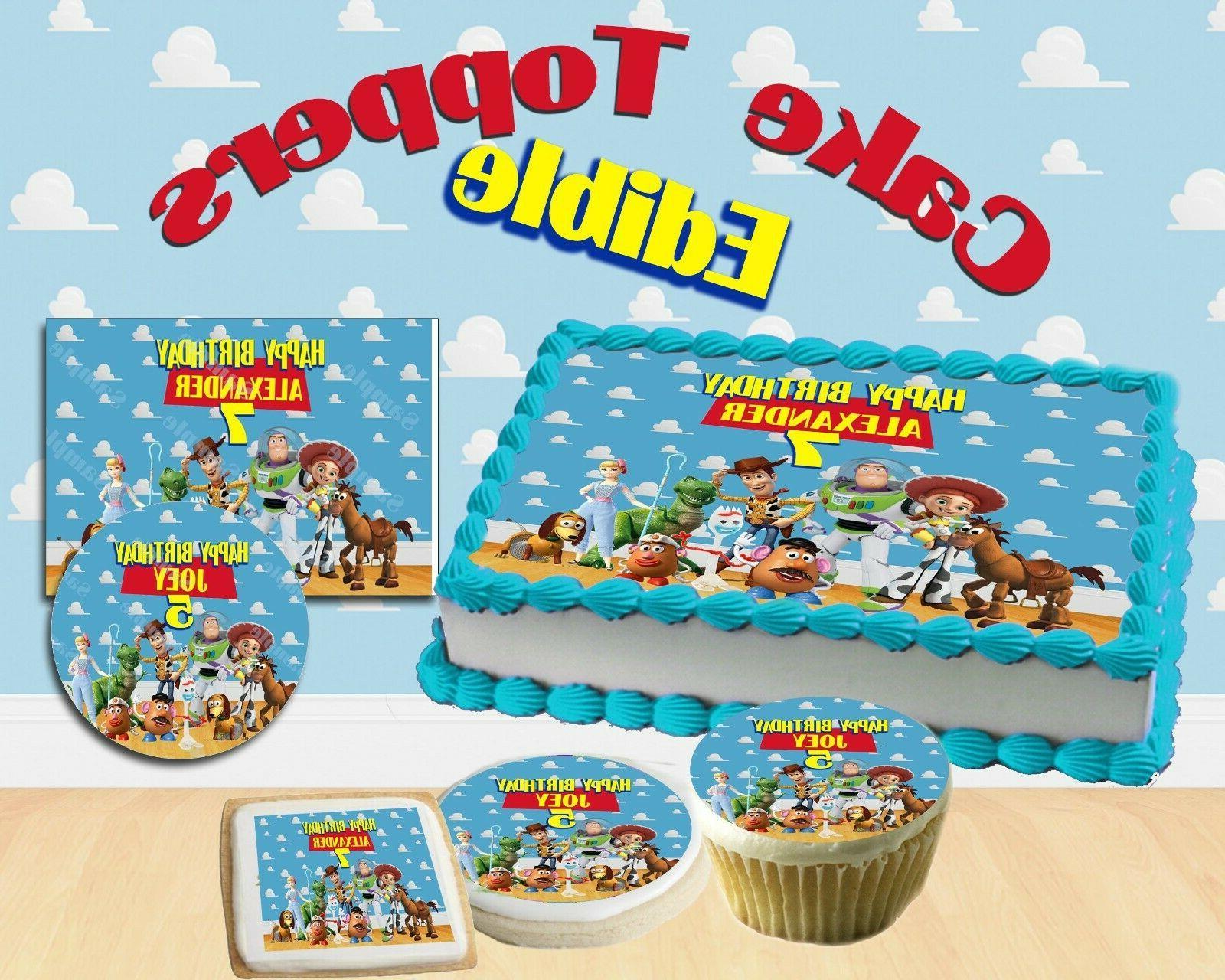 custom toy story edible birthday cake topper