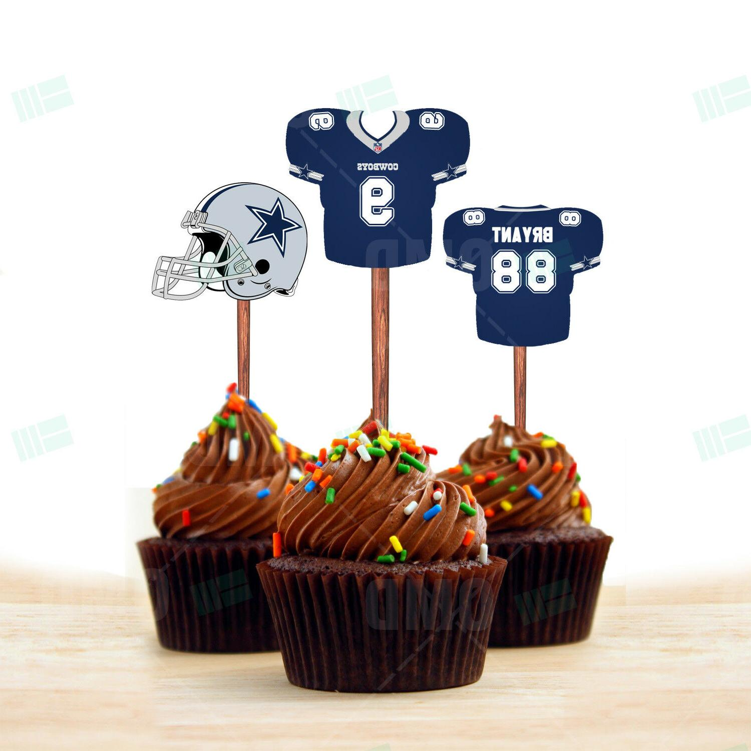Dallas Cowboys Cupcake Toppers, Assorted Players