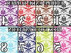 DAMASK PATTERN COLORS Image Edible Cake toppers cupcakes, st