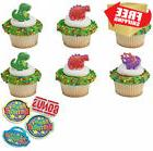 Bundle of Fun Dino Pals Dinosaur Rings Cupcake Toppers and B