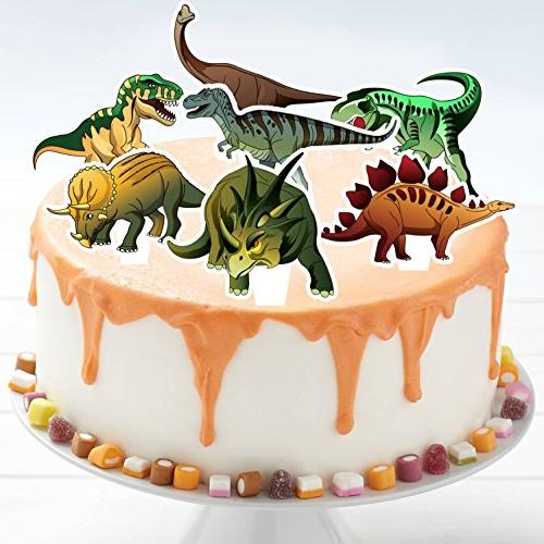 Dinosaur Supplies Toppers and Pack Cupcake Decrorations Kids