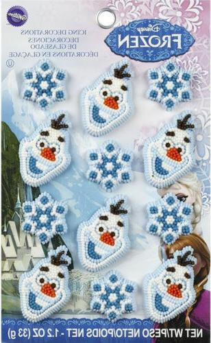 Disney Frozen Icing Decorations 12 ct from Wilton 4500 - NEW