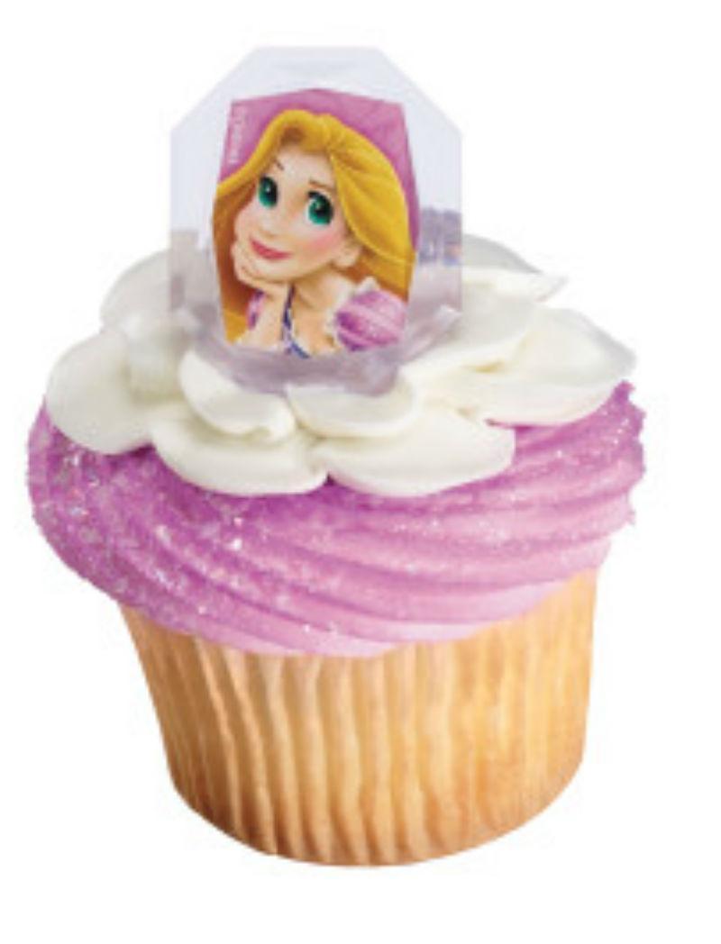 Disney Princess Rapunzel cupcake rings  party favor cake top