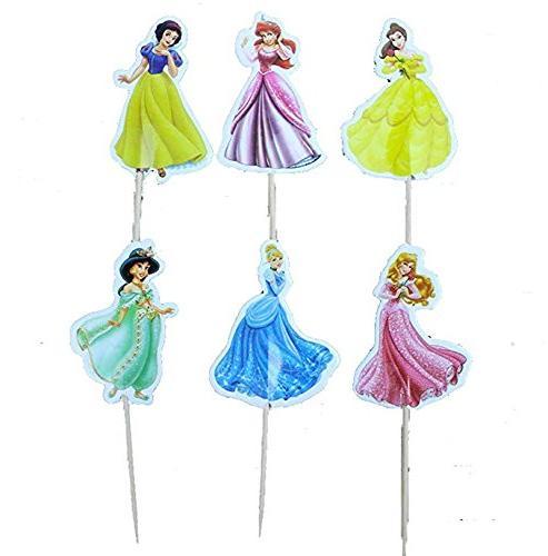 Disney Princess, Snow White, Belle, Cinderella, Ariel Cupcak