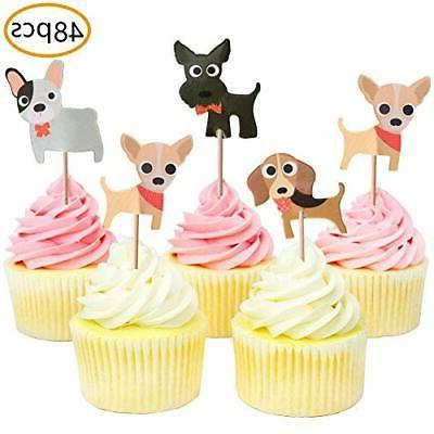 dog cupcake toppers puppy theme baby shower