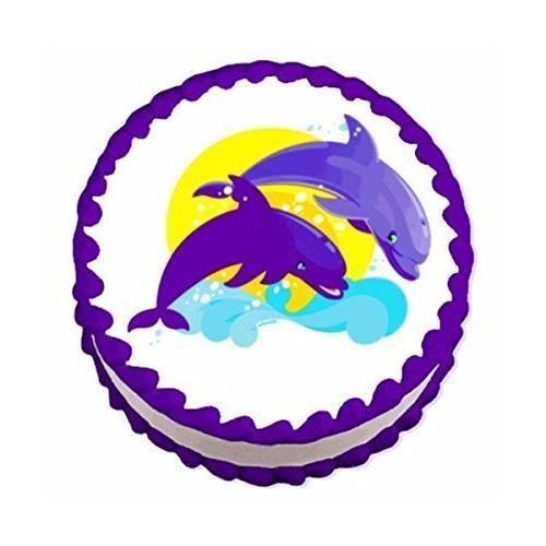 dolphin edible image cake cupcake