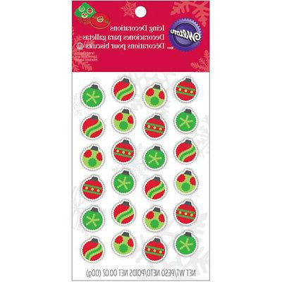 dot matrix icing decorations ornaments