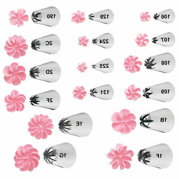 Wilton Drop Flower Decorating Tips New LG XLG Sizes Cake Ici