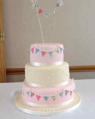 edible bunting flags circles or butterfly floral