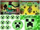 EDIBLE CAKE IMAGE  MINECRAFT  ICING SHEET PARTY TOPPER CUPCA