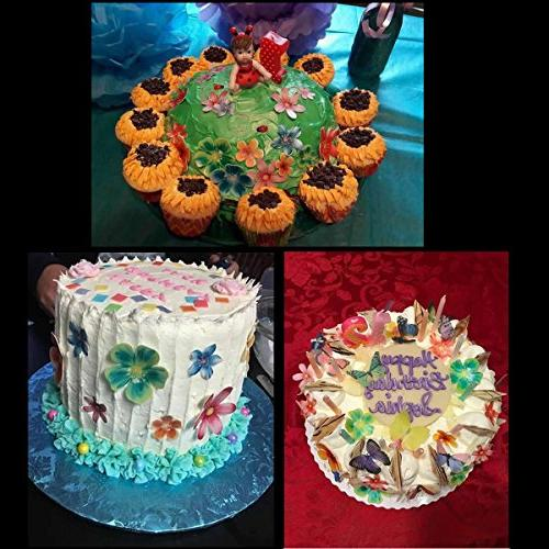 GEORLD Set Edible Flowers Toppers Wedding Cake