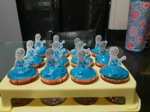 12x Elsa Princess half body Wafer Card cake uncut