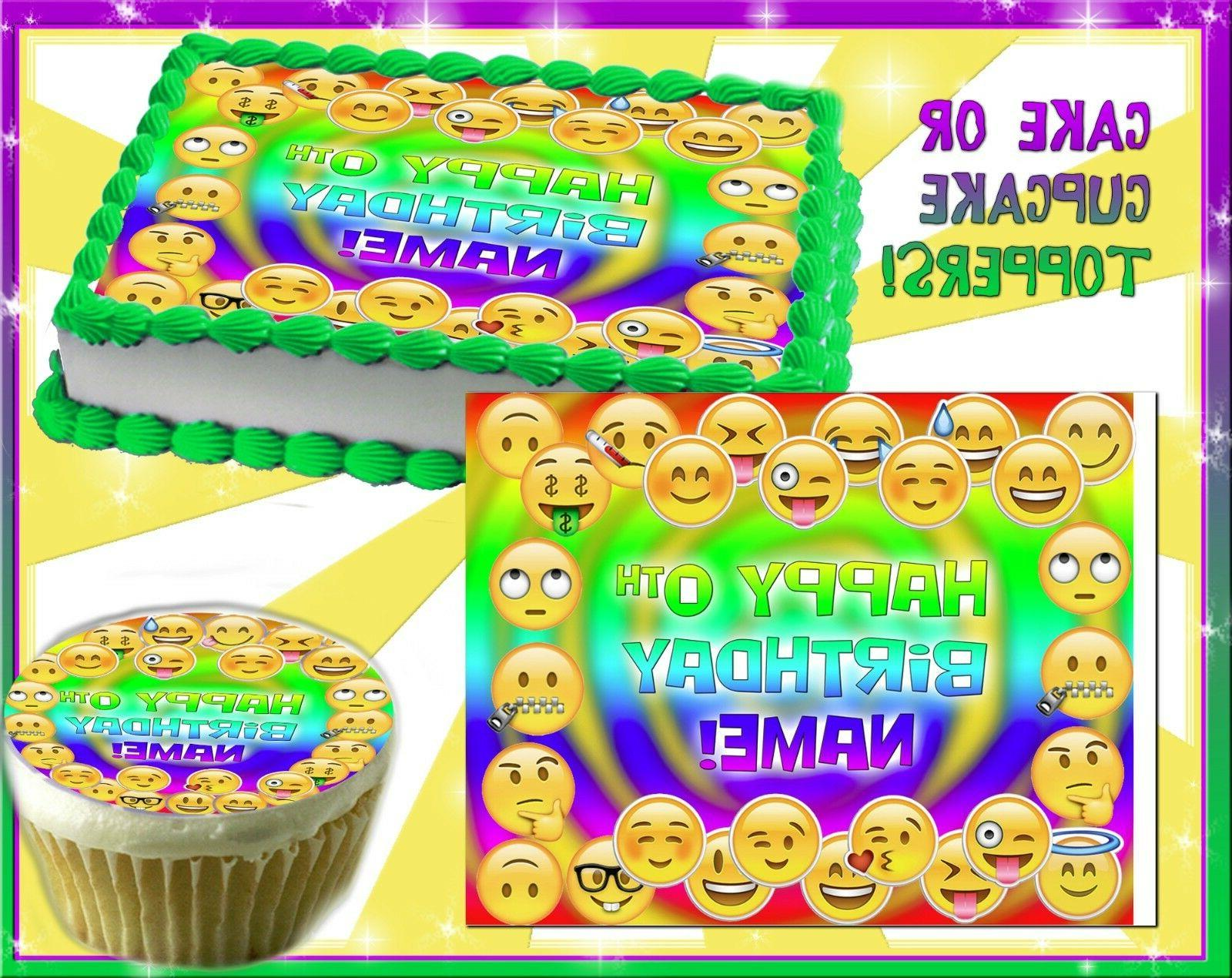 Emoji faces Edible Cake Topper Frosting Sheet sugar paper pi