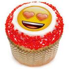"Emoji Heart Eyes 2"" Edible Cupcake Topper"