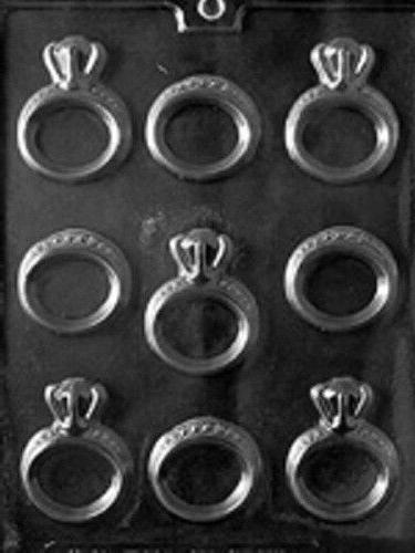 engagement and wedding rings chocolate candy mold