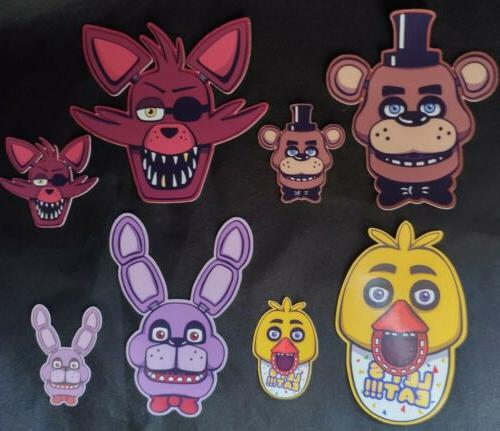 FNAF Stickers Birthday Party Cupcake Topper