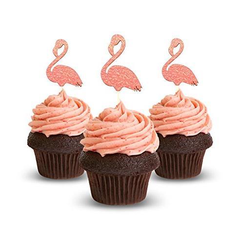 flamingo cupcake topper