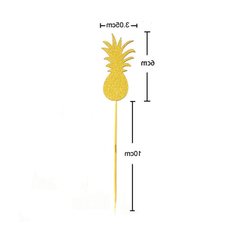 Flamingo Pineapple Cupcake Toppers Party Wedding Decor