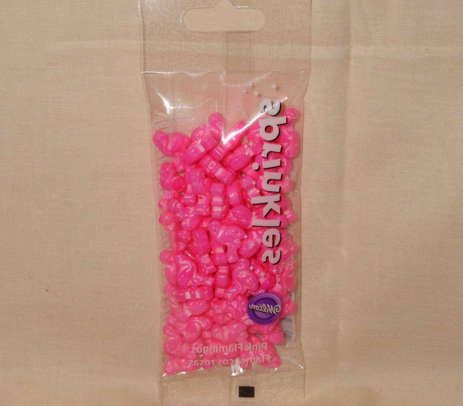 flamingos pink candy sprinkles cupcake toppers decoration