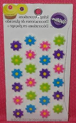 Flowers,Mini Edible Cupcake Toppers,Icing Decoration,Wilton,
