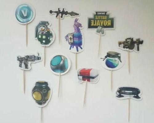 fortnite battle royale cupcake toppers 24pcs
