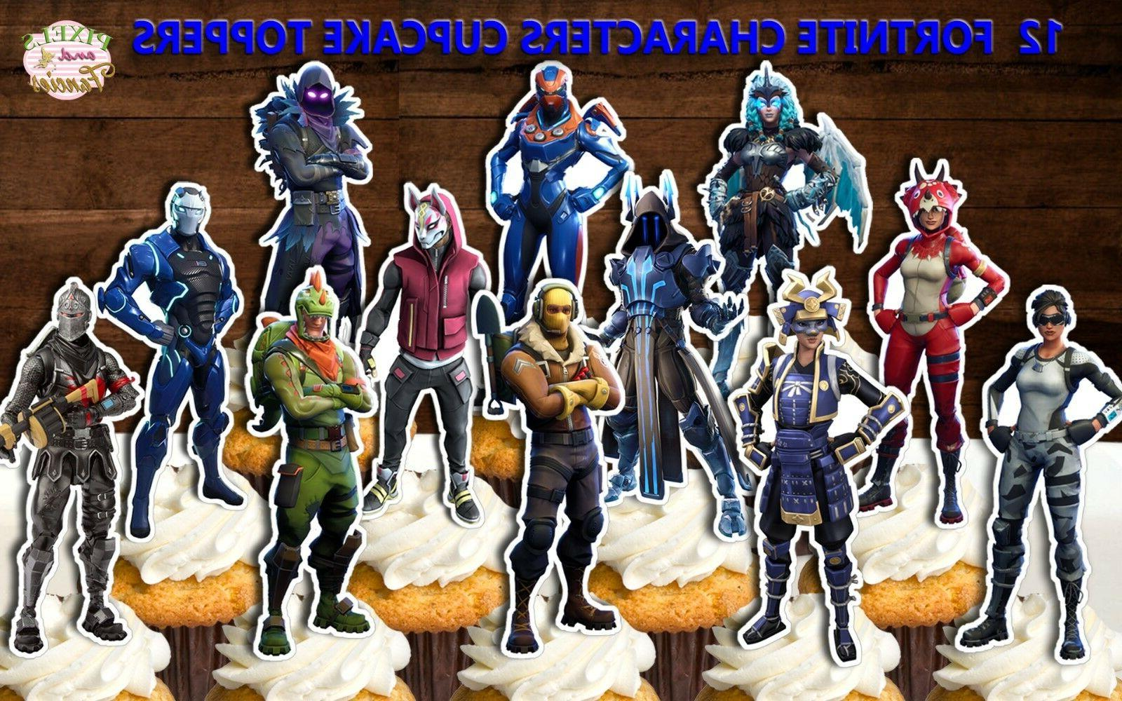 fortnite cupcake toppers fortnite cake topper