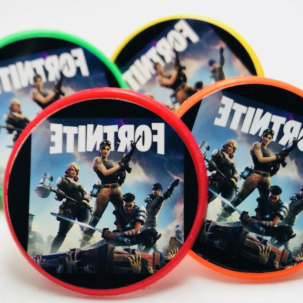 Fortnite Cupcake Toppers Rings Birthday Party Favors -