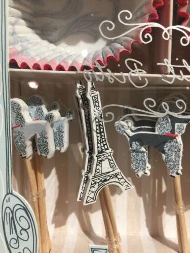Meri Meri Cupcake Paris Poodle Eiffel 24 Ct.