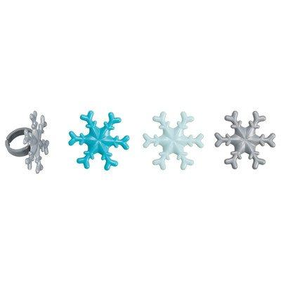 frosted snowflake cupcake rings