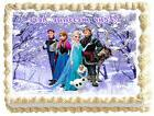 FROZEN ELSA AND ANNA Image Edible Cake topper frosting sheet