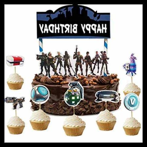 Gaming Cake 24Pcs Cupcake Birthday Supplies Decoration Grocery