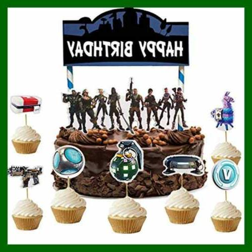Gaming Cake 24Pcs Cupcake Party Supplies Decoration Grocery